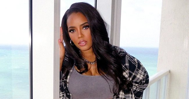 Check Out Angela Simmons' Long Legs as She Poses at a Gas Station in Tiny White Shorts & Jacket