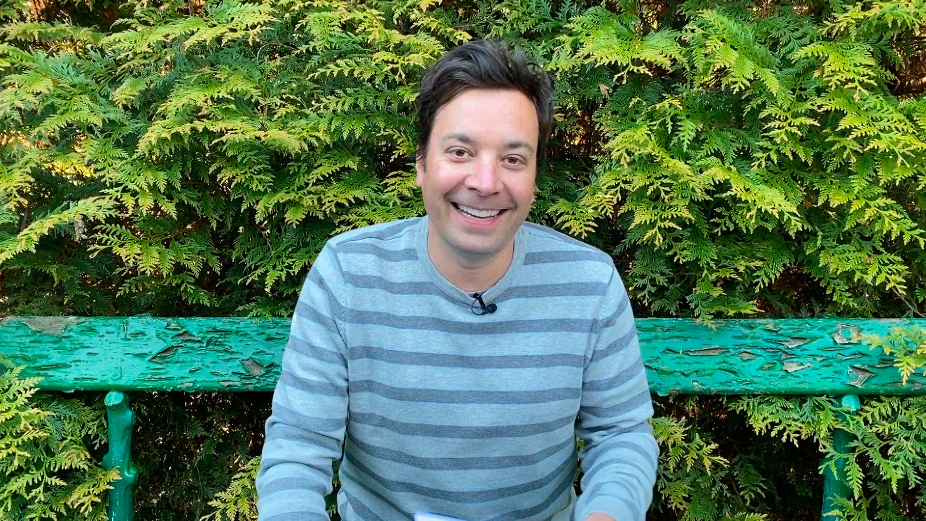 """A portrait of the host of """"The Tonight Show"""" Jimmy Fallon on May 7, 2020 