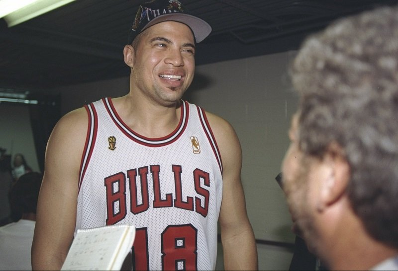 Brian Williams (Bison Dele) on June 13, 1997 at the United Center in Chicago, Illinois   Photo: Getty Images