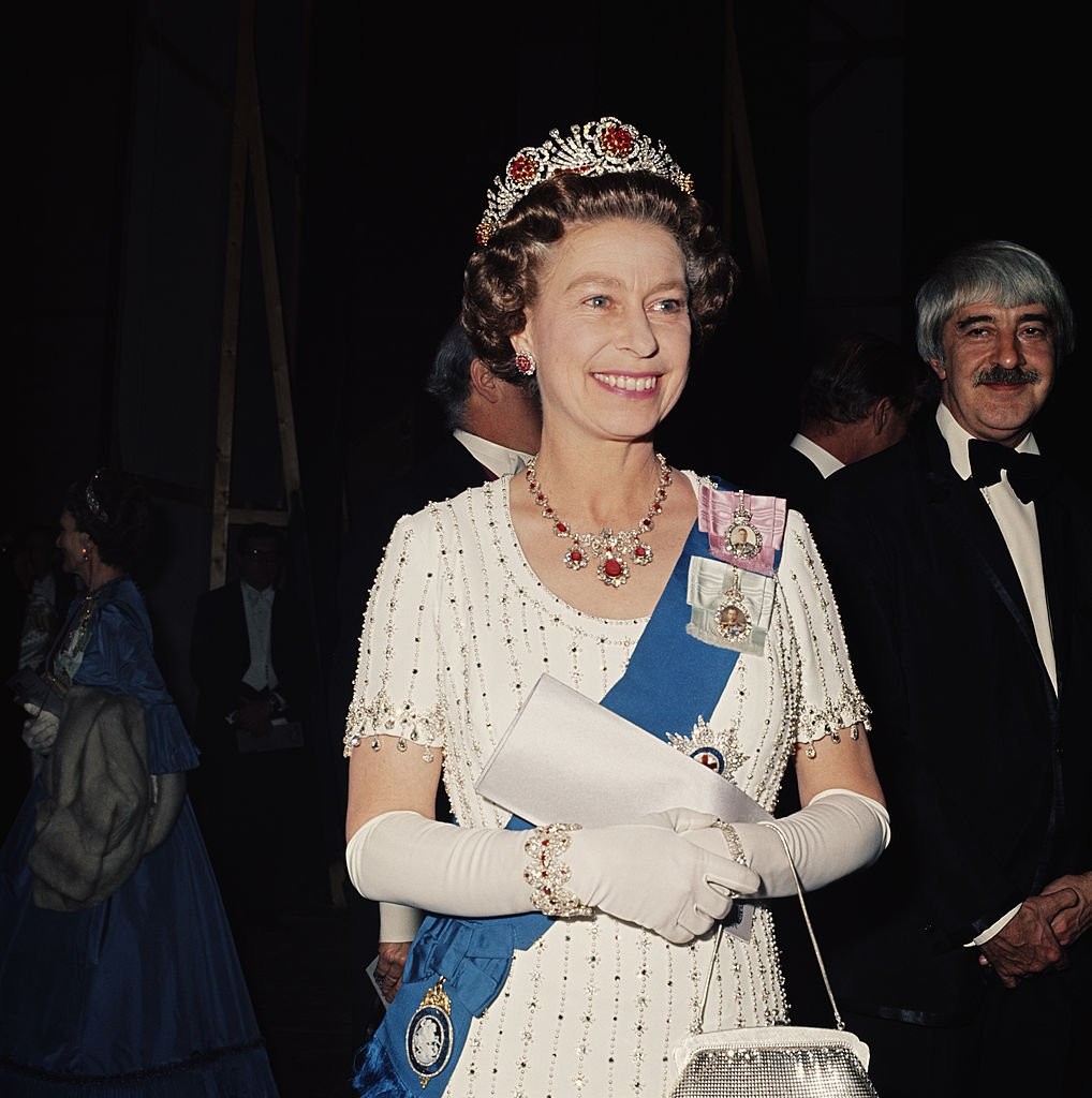 Queen Elizabeth II at a Royal Gala performance, May 1977   Source Getty Images