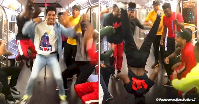 Video of a group of guys busting wild dance moves on subway went viral with 74M views in 2018