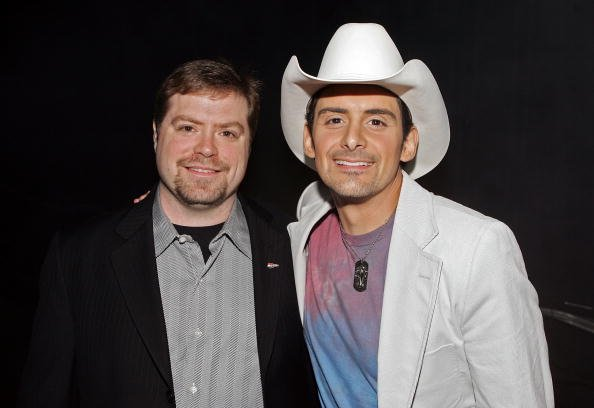 Frank Rogers and Brad Paisley at the MGM Grand Garden Arena on May 23, 2006 in Las Vegas, Nevada.   Photo: Getty Images