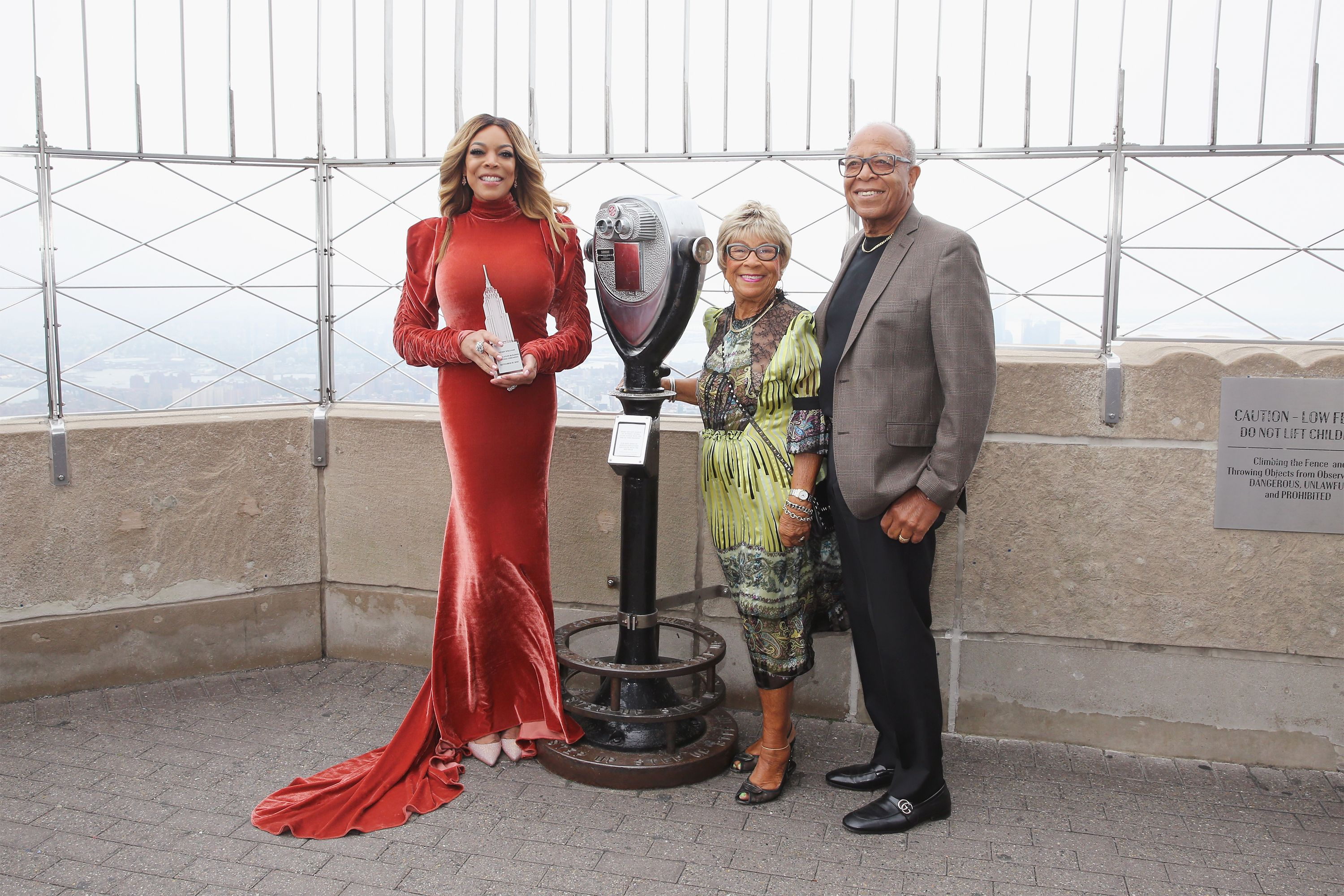 Wendy Williams, Shirley Williams, Thomas Williams Sr., visit The Empire State Building in 2017 in New York City   Source: Getty Images