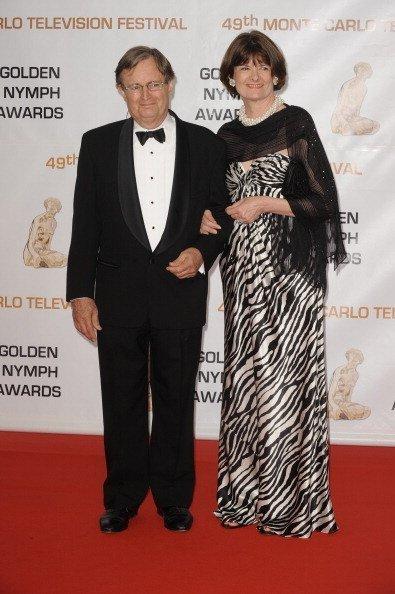 David McCallum and his wife Katherine Carpenter at Grimaldi in Monte Carlo, Monaco in June 2009 | Photo: Getty Images