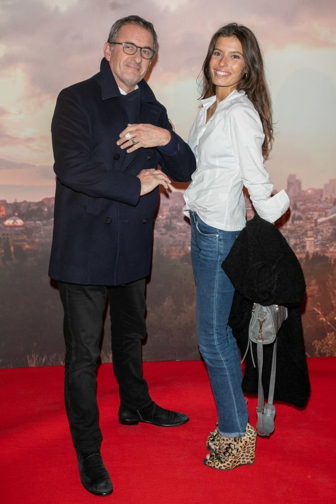 Christophe Dechavanne et sa fille Ninon le 4 décembre 2018 à Paris. l Source : Getty Images