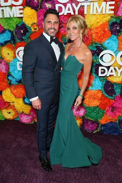 Don Diamont and Cindy Ambuehl attend CBS Daytime Emmy Awards After Party at Pasadena Convention Center in Pasadena | Photo: Getty Images