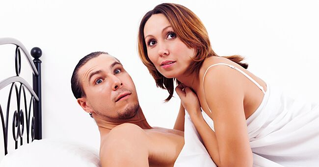 Daily Joke: A Man and Woman Are in Bed Getting Busy When They Hear a Car Noise