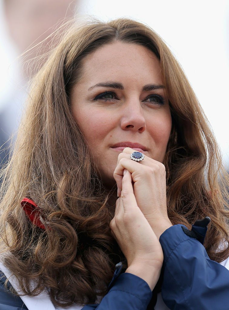 Kate Middleton wore her engagement ring to the Great Britain Mixed Coxed Four Rowing, 2012, England. | Photo: Getty Images