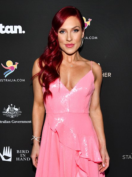 Sharna Burgess at the Beverly Wilshire Four Seasons Hotel on January 25, 2020 in Beverly Hills, California.   Photo: Getty Images