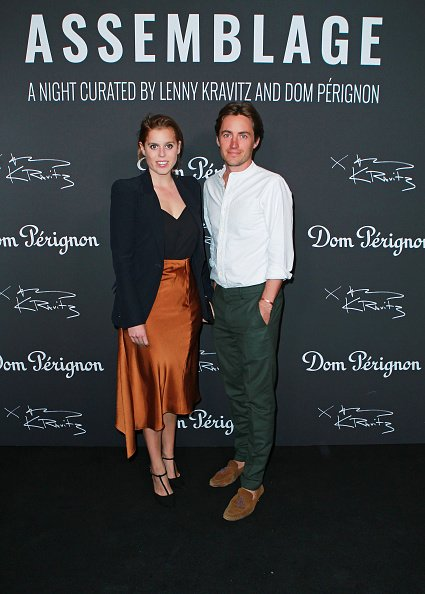 "La princesse Beatrice d'York et Edoardo Mapelli Mozzi assistent à l'exposition ""Assemblage"" de Lenny Kravitz & Dom Perignon 