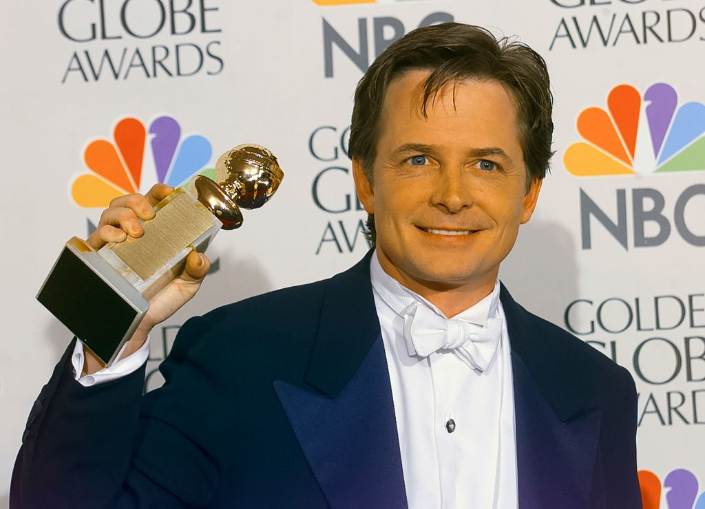 Winner Michael J. Fox backstage at the 55th Annual Golden Globes Awards Show, January 18, 1998 in Beverly Hills, California.   Source: Getty Images
