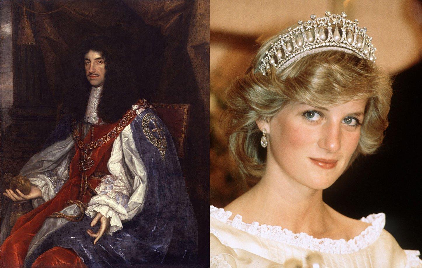 King Charles II and Princess Diana. I Image: Getty Images.