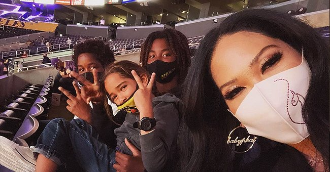 Kimora Lee Simmons Posts Rare Photo of Her 3 Adorable Sons as They Watched a Lakers Game Together