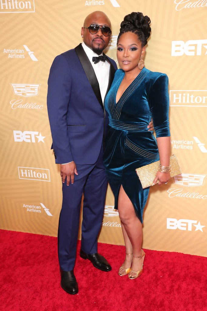 Omar Epps and his wife Keisha Epps at the American Black Film Festival Honors Awards Ceremony on February 23, 2020 | Photo: Getty Images