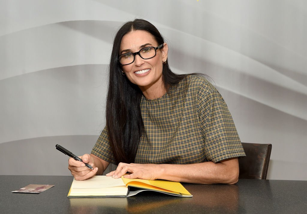 "Actress Demi Moore attends the signing of her memoir ""Inside Out"" at Barnes & Noble Union Square 