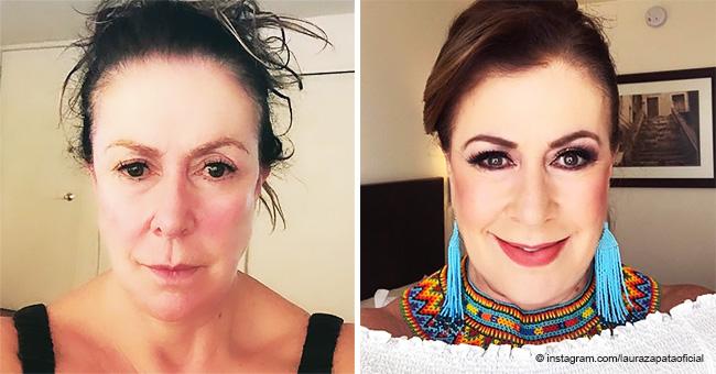 Laura Zapata sorprende a sus fans revelando cómo se ve sin una gota de maquillaje a los 62 años