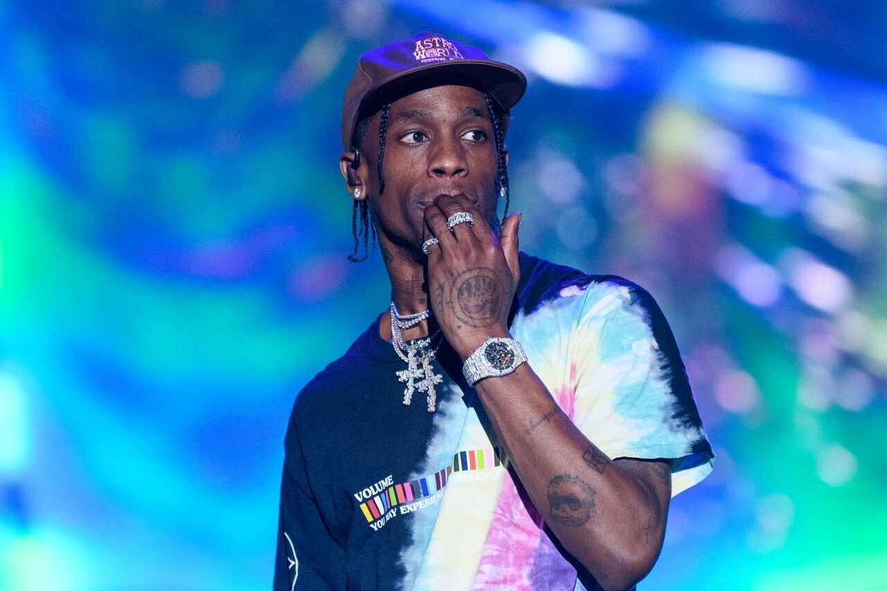 A portrait of Travis Scott at one of his concerts | Source: Getty Images/GlobalImagesUkraine