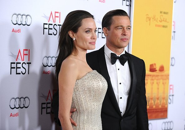 """Angelina Jolie and Brad Pitt attend the premiere of """"By the Sea"""" at the 2015 AFI Fest 