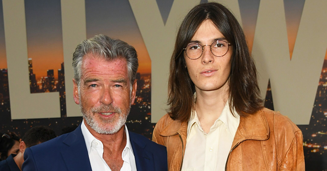 Pierce Brosnan Makes a Rare Appearance with Model Son Dylan at La's 'Once upon a Time in Hollywood' Premiere