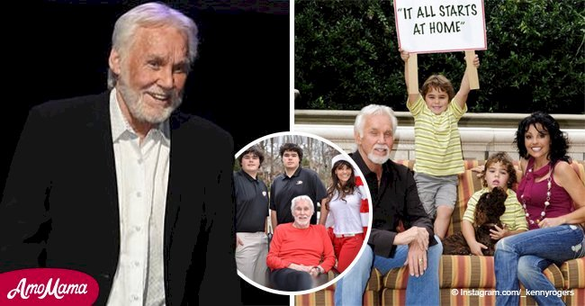 Kenny Rogers Shared Rare Photo with His Twin Sons and They Changed beyond Recognition