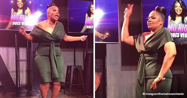 Mo'Nique shows off crazy dance moves in fitting off-shoulder dress after 100-lb. weight loss