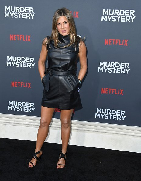 "Jennifer Aniston at the LA Premiere Of Netflix's ""Murder Mystery"" on June 10, 2019 