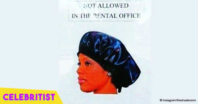 Viral photo of sign that prohibits wearing sleeping bonnets in a rental office slammed as racist
