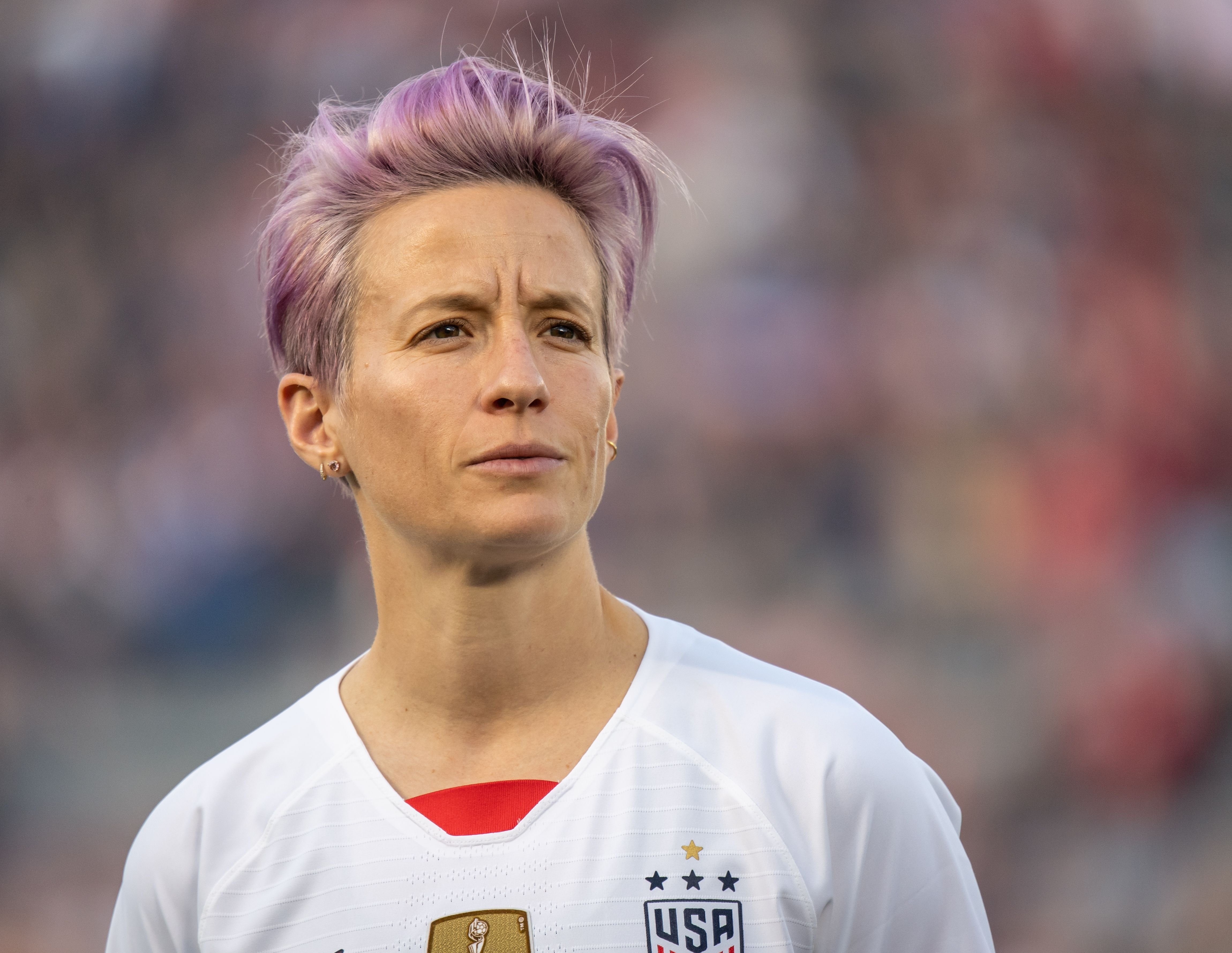 Megan Rapinoe #15 of the United States the United States international friendly match against Ireland at the Rose Bowl on August 3, 2019   Photo: Getty Images