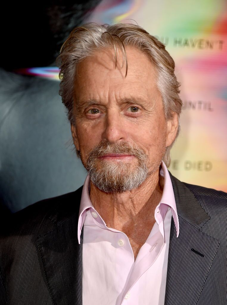 "Executive producer Michael Douglas arrives at the premiere of Columbia Pictures' ""Flatliners"" at the Ace Theatre 