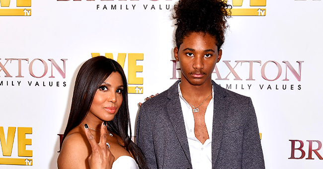 Toni Braxton's Grown Son Diezel Looks Handsome Wearing White Sweater in Pics from South Africa