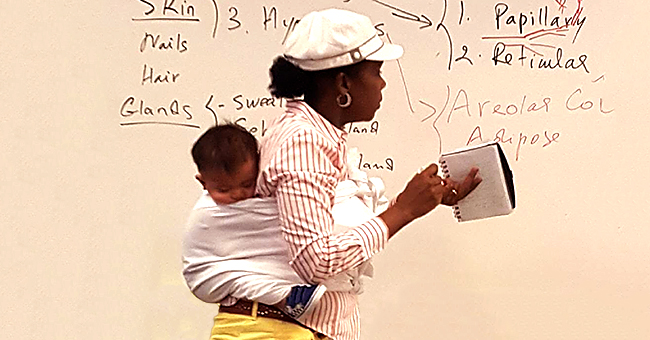 Georgia Gwinnett College Professor Goes Viral for Carrying Student's Baby on Her Back during 3-Hour Lecture