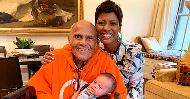 See Tamron Hall's Adorable Photo of Baby Moses with 92-Year-Old Harry Belafonte