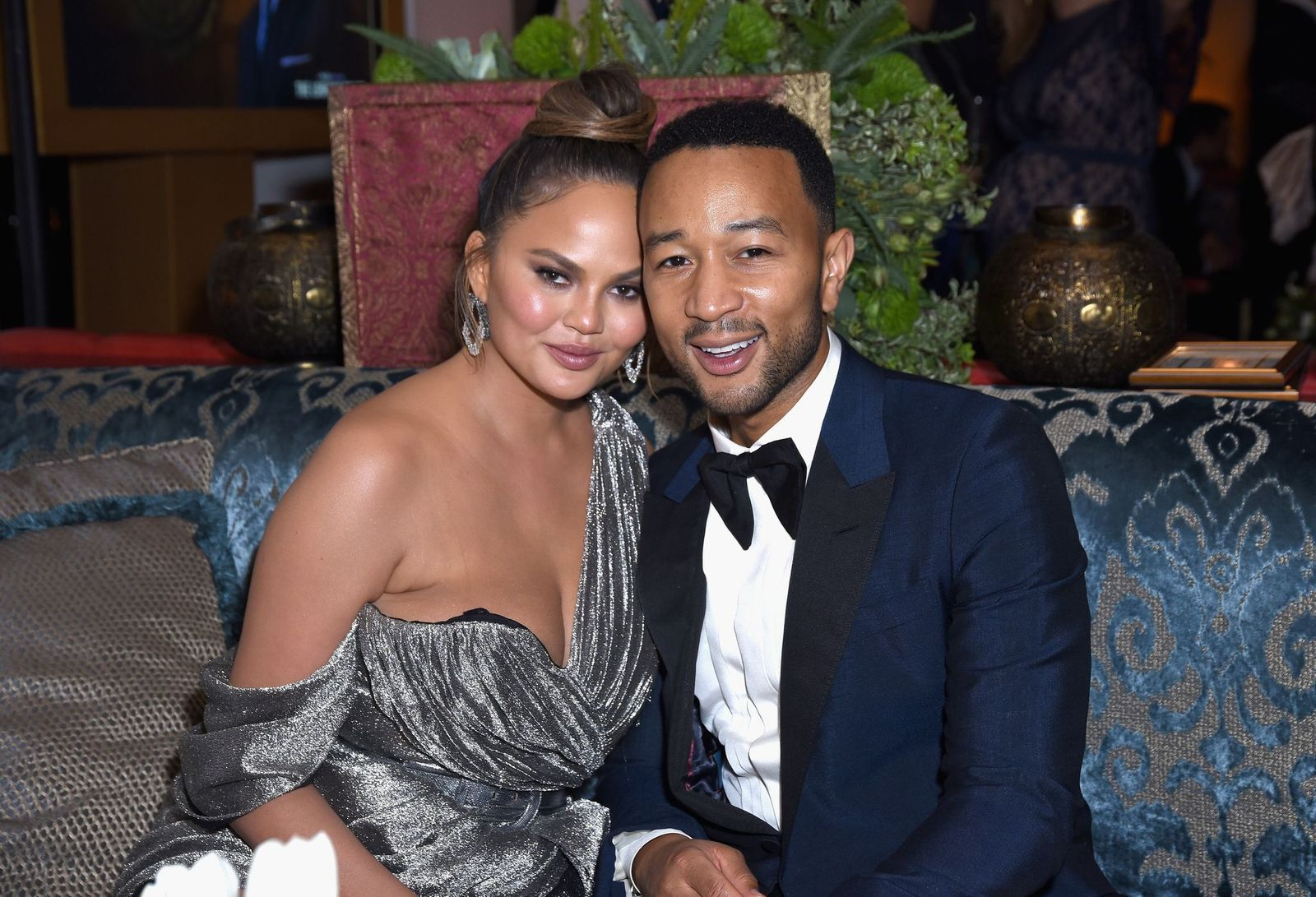 Chrissy Teigen and John Legend at Hulu's Emmy Party at Nomad Hotel on September 17, 2018, in Los Angeles, California | Photo: Presley Ann/Getty Images