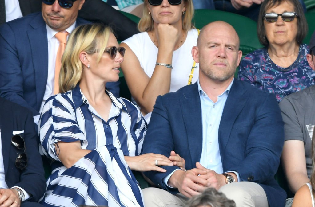 Mike Tindall and Zara Phillips attends day 9 of the Wimbledon Tennis Championships at All England Lawn Tennis and Croquet Club | Photo: Getty Images