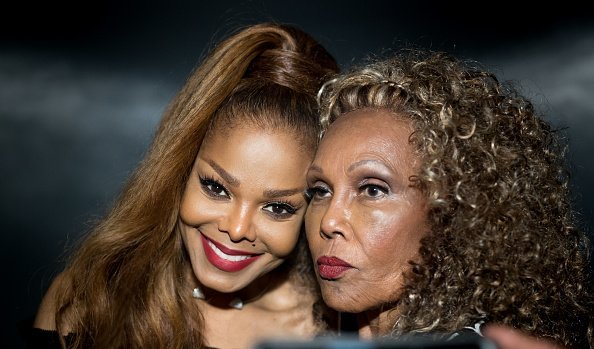 Janet Jackson meets Ja'net Dubois at the Janet Jackson's State Of The World Tour After Party | Photo Getty Images