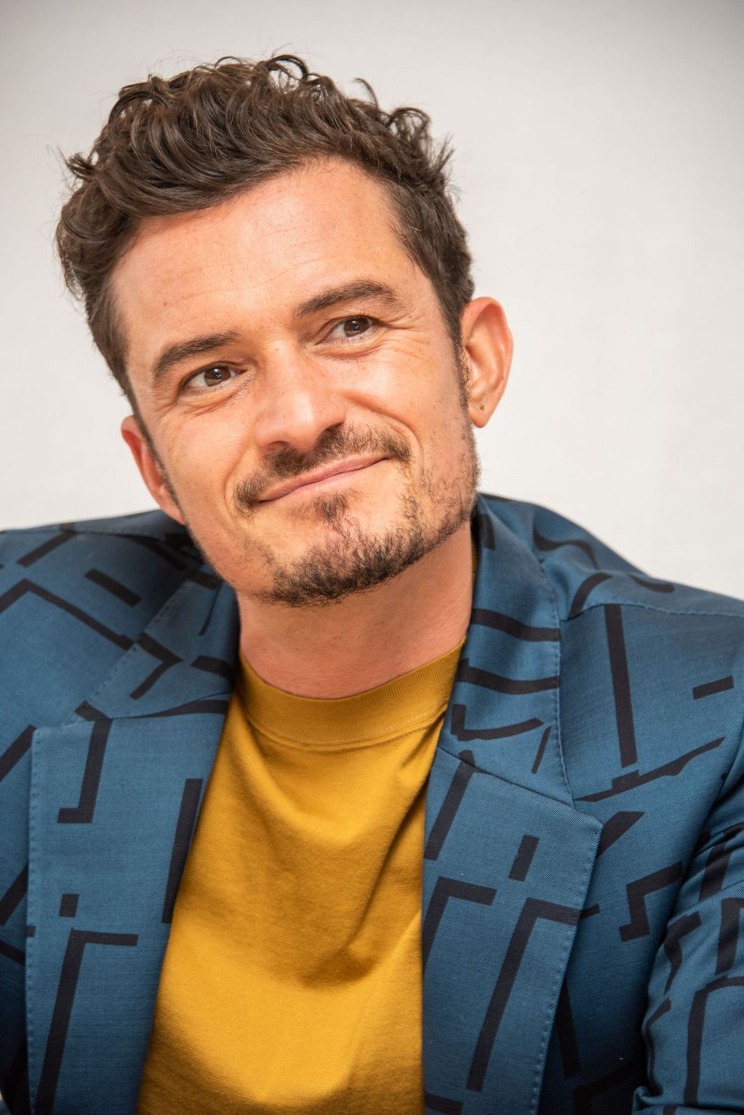"""Orlando Bloom at the """"Carnival Row"""" Press Conference at The Beverly Hilton Hotel on July 27, 2019, in Beverly Hills, California 