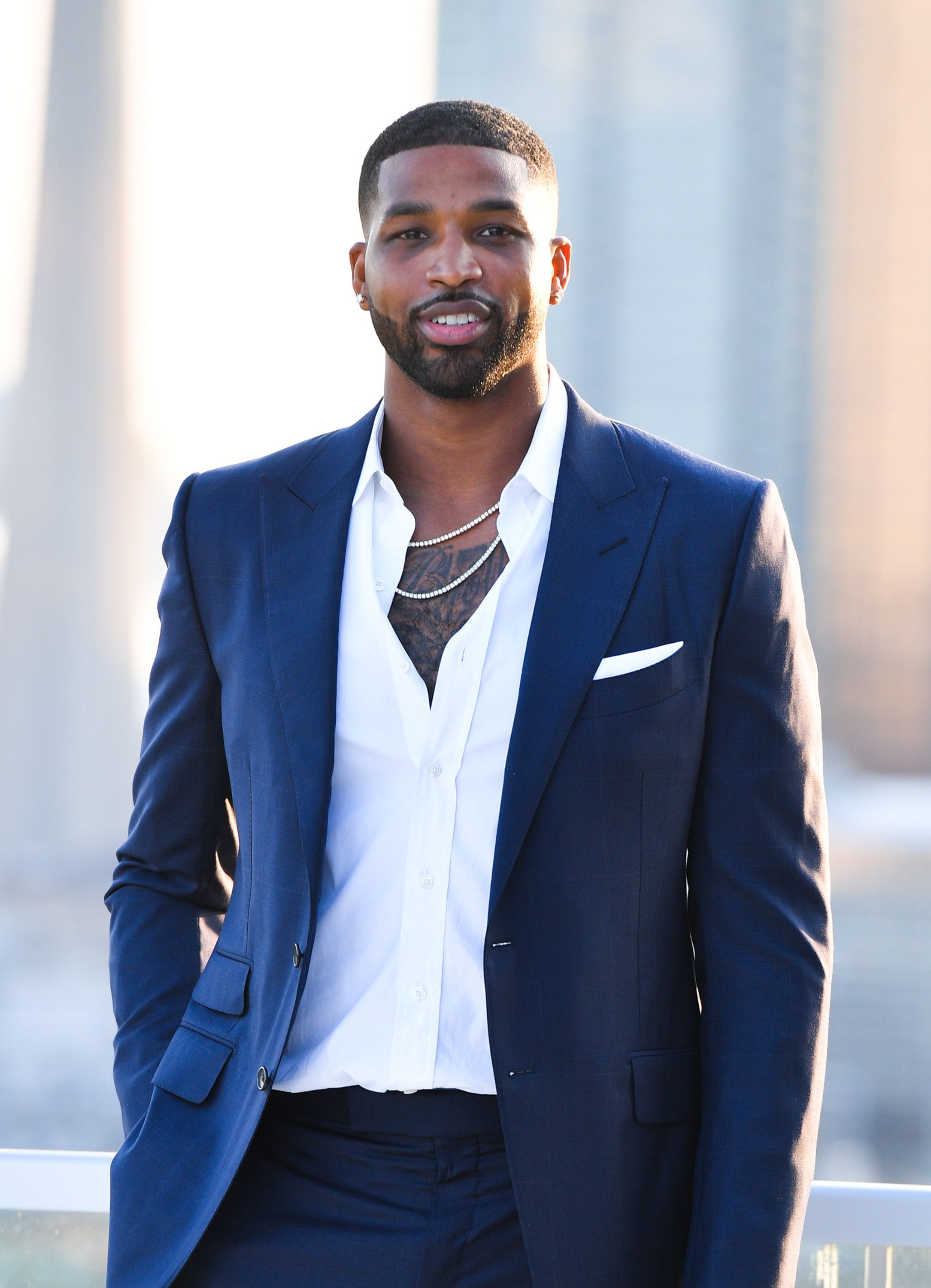 Tristan Thompson at The Amari Thompson Soiree held at The Globe and Mail Centre on August 01, 2019, in Toronto, Canada. Photo George Pimentel Getty Images
