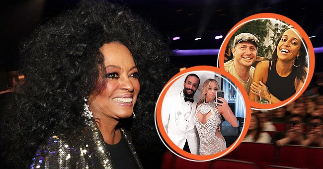 Photo of Diana Ross at the 2017 American Music Awards at Microsoft Theater on November 19, 2017. Photos of her son Ross Naess and his wife Kimberly Ryan; her daughter Chudney Ross and her husband, Joshua Faulkner.   Photo: Getty Images,  instagram.com/justjoshinyouu,  instagram.com/rossnaess