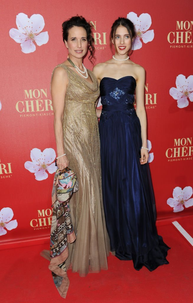 "Andie MacDowell and daughter Margaret Qualley attend the ""Mon Cheri Barbara Day Charity event in Munich, Germany on December 3, 2011 