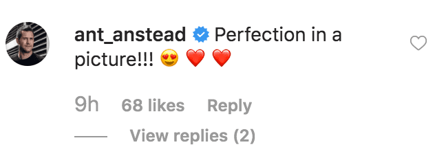 Ant Anstead comment's on a picture of Christiana Anstead's and her son Hudson Anstead | Source: instagram.com/christinaanstead