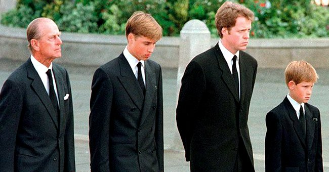 Prince Philip Walked Behind Princess Diana's Coffin with William & Harry — inside His Decision