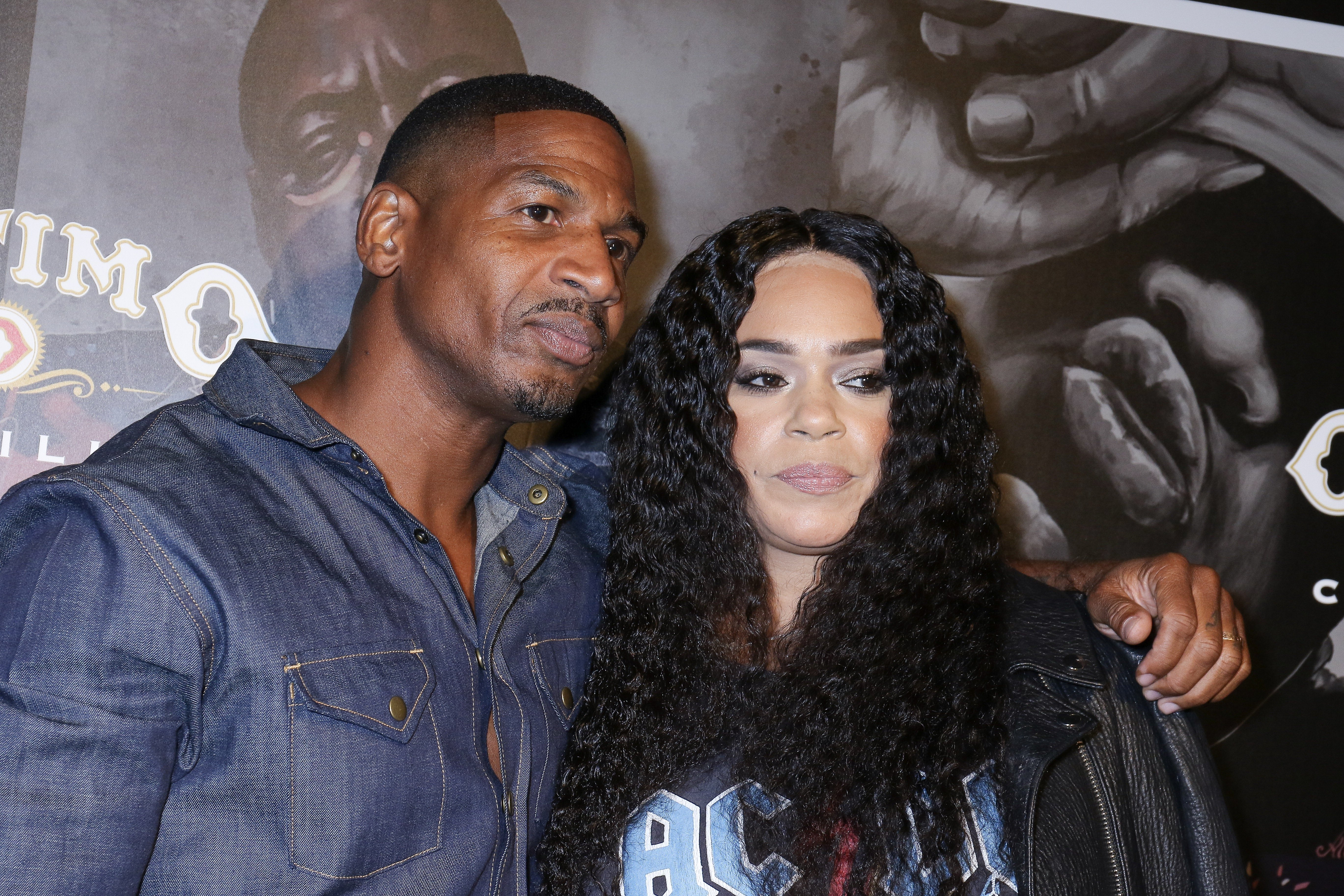 "Stevie J. and Faith Evans at the ""Biggie Inspires"" Art Exhibit & Celebration at William Vale Hotel on September 13, 2019 in New York City. 