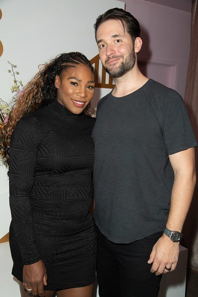 Serena Williams und Ehemann Alexis Ohanian, The Serena Collection Pop-Up VIP Reception, Los Angeles, 2018 | Quelle: Getty Images