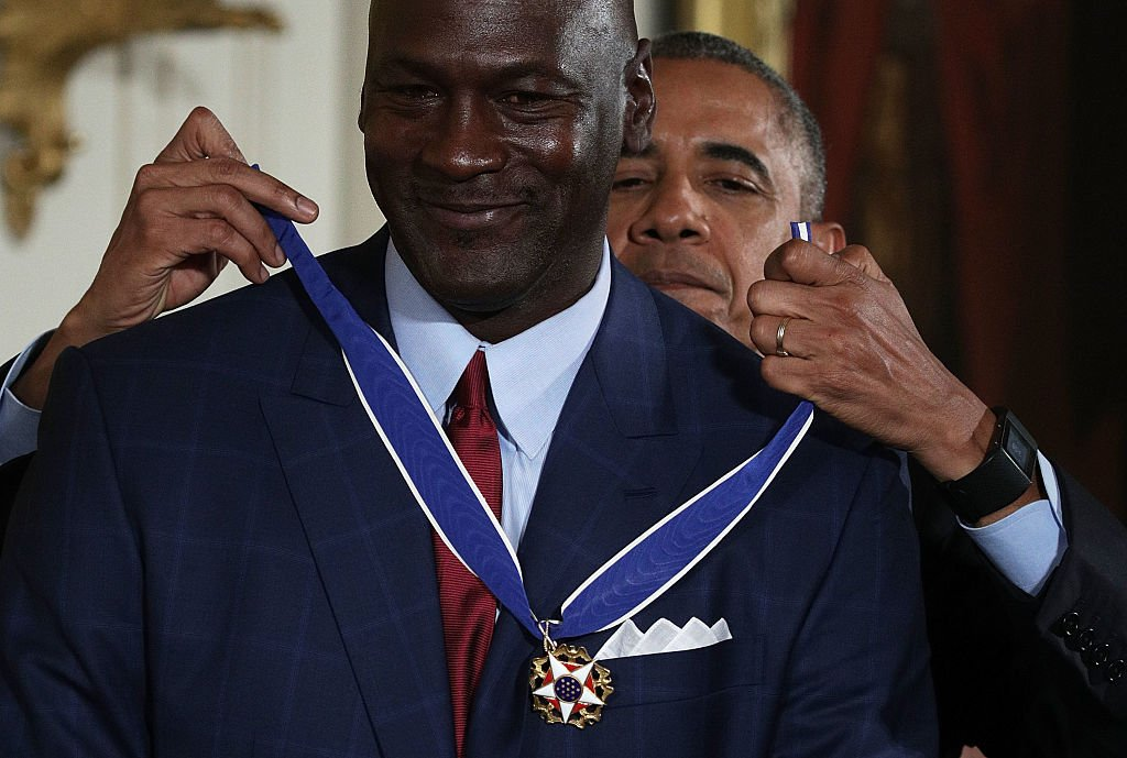 Jordan and Obama. Image Credit: Getty Images