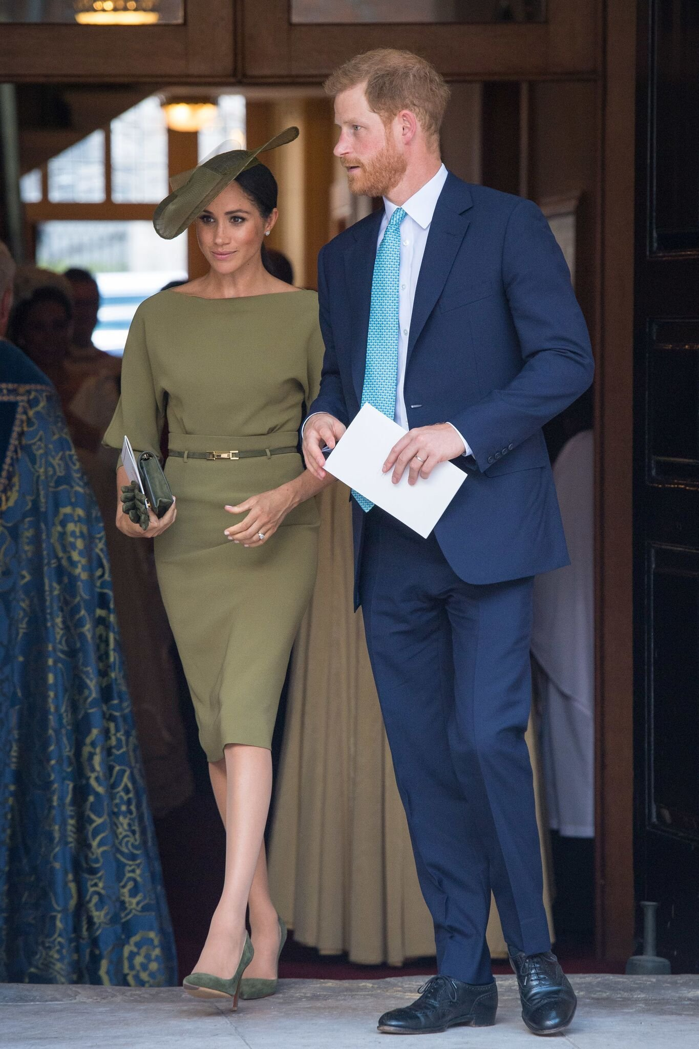 The Duke and Duchess of Sussex depart after attending the christening of Prince Louis at the Chapel Royal, St James's Palace  | Getty Images