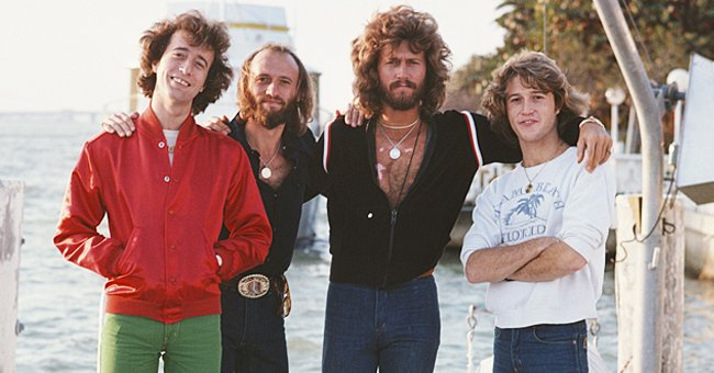 Andy Gibb and his older brothers, the band members of The Bee Gees pictured in Miami in 1978.   Photo: Getty Images