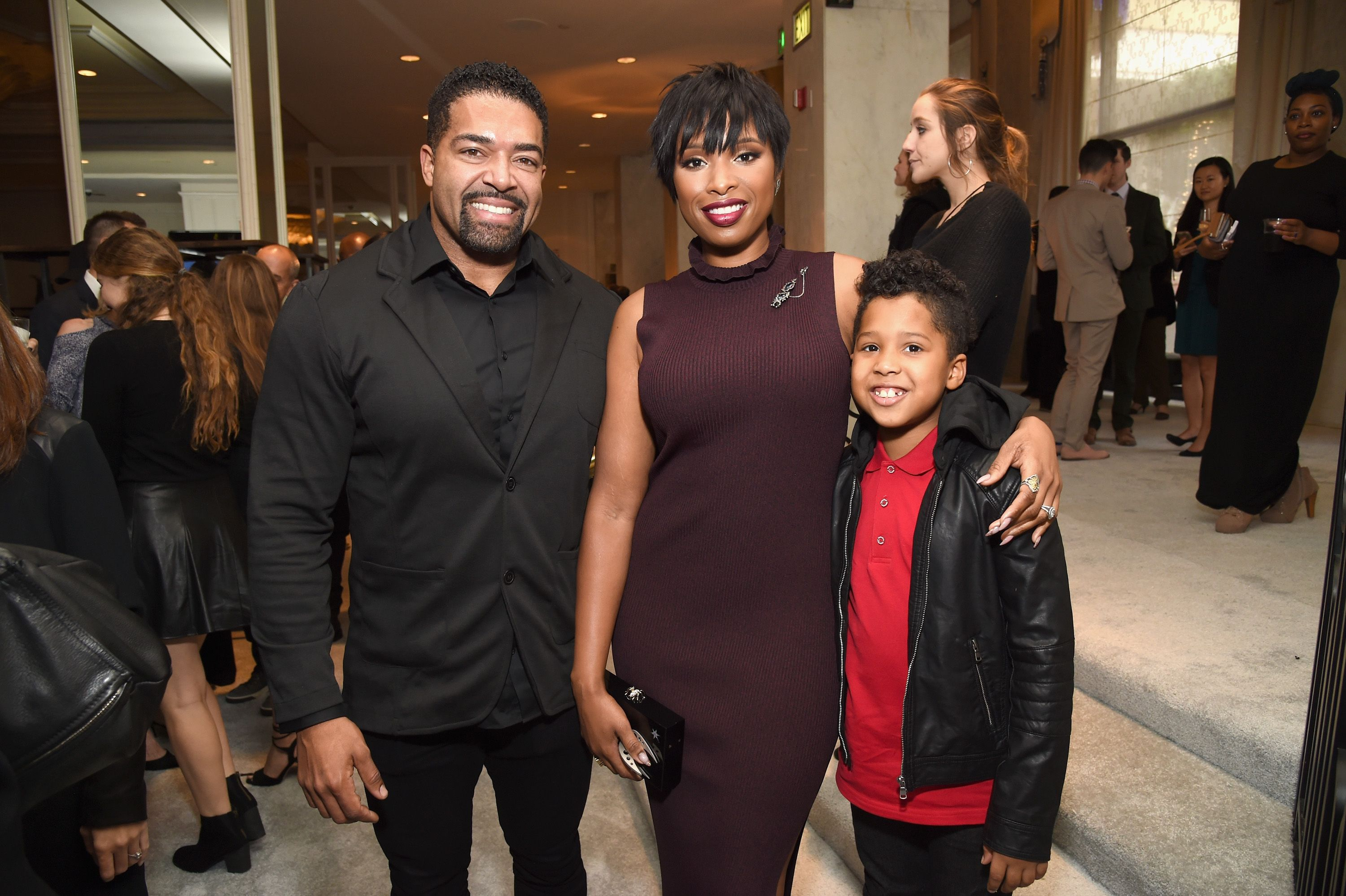 Wrestler David Otunga, honoree Jennifer Hudson and David Otunga Jr. at the 2016 March of Dimes Celebration of Babies at the Beverly Wilshire Four Seasons Hotel on December 9, 2016 | Photo: Getty Images