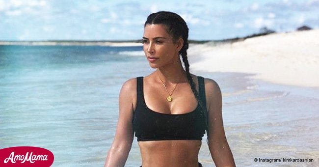 Kim Kardashian shares topless pic taken by her husband