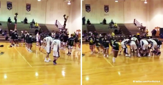 Video of zealous high school basketball announcer calling players to the court went viral in 2018