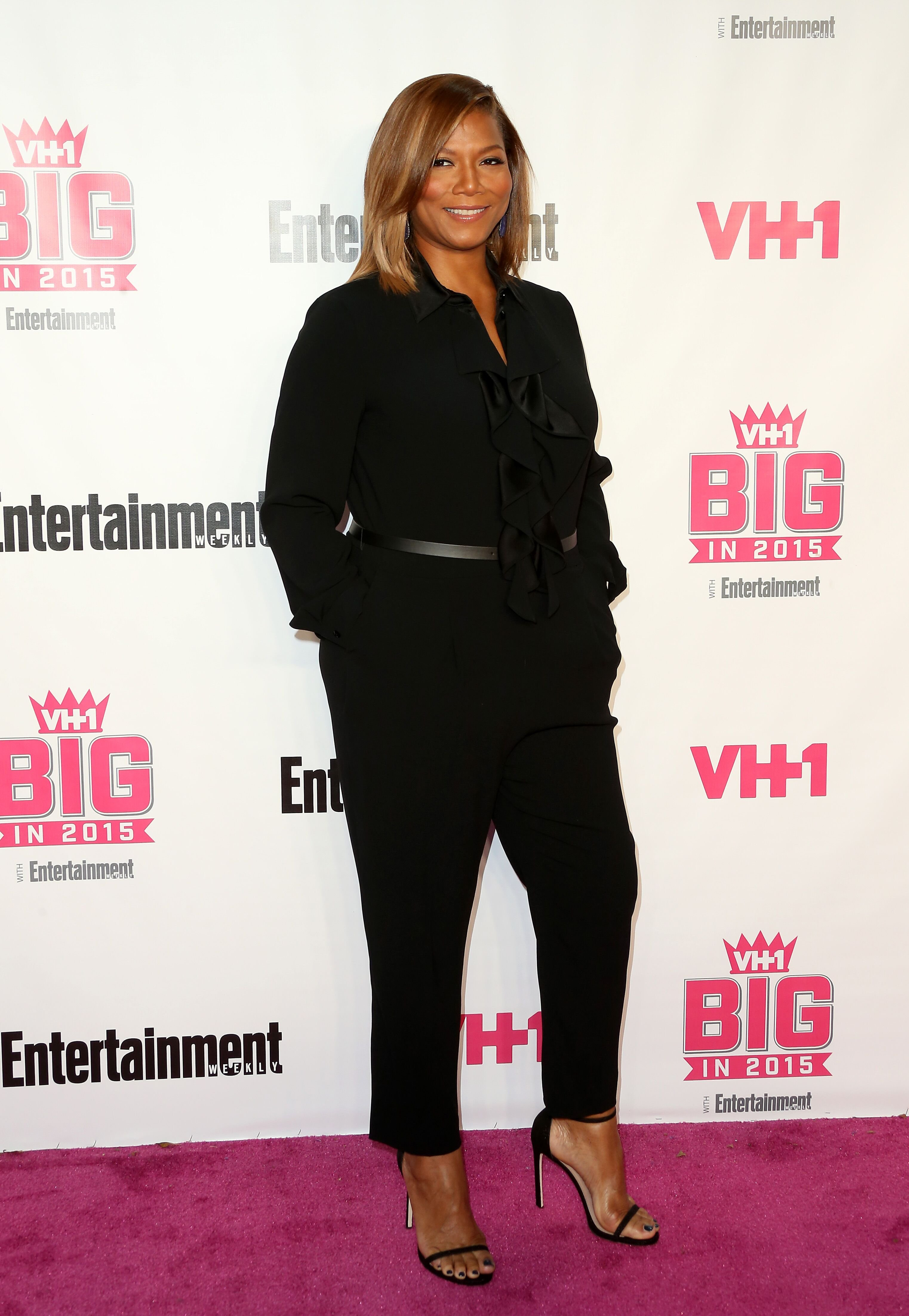 """Actress Queen Latifah at the """"VH1 Big In 2015 With Entertainment Weekly Awards"""" in November 2015. 